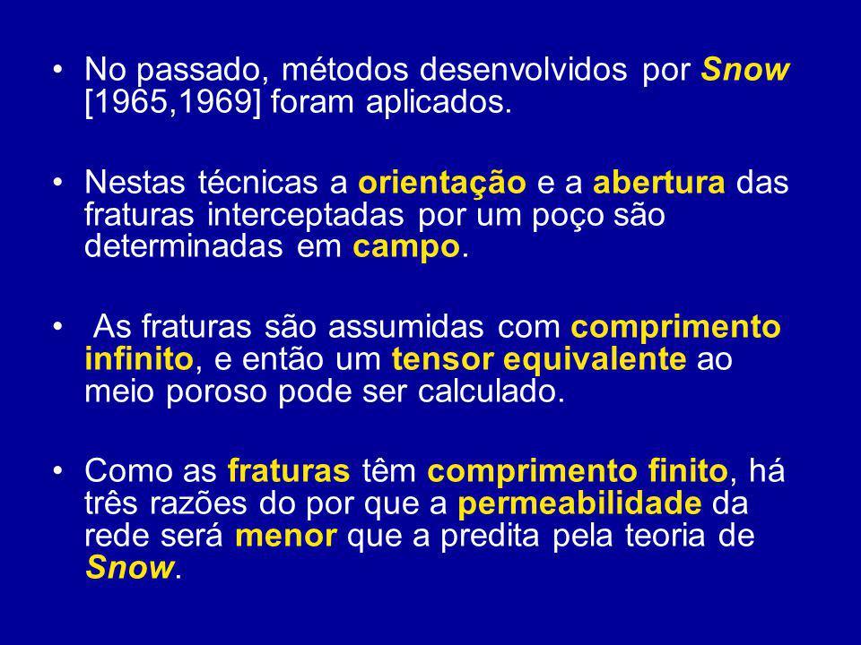 No passado, métodos desenvolvidos por Snow [1965,1969] foram aplicados.
